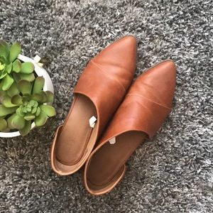 EUC Free People Dupe Cutout Brown Leather Booties